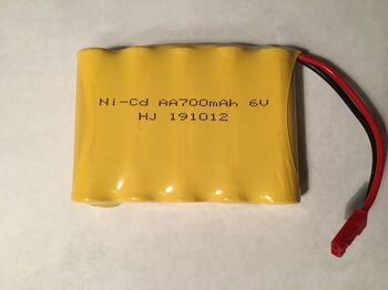 Аккумулятор Ni-Cd 6v 700mah форма Flatpack разъем JST