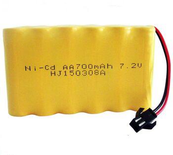 Аккумулятор Ni-Cd 7.2v 700mah форма Flatpack разъем YP