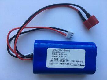 Аккумулятор 18650 Li-Ion 7.4v 3200mah разъем T-Plug