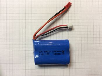 Аккумулятор 18500 Li-Ion 7.4v 1100mah ICR разъем JST