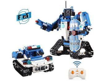 Радиоуправляемый конструктор CADA 2 в 1 полицейский  робот-трансформер (556 деталей)