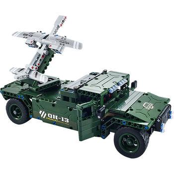 Радиоуправляемый конструктор боевой джип QiHui Technics 4CH 2.4G 502 детали - QH8013