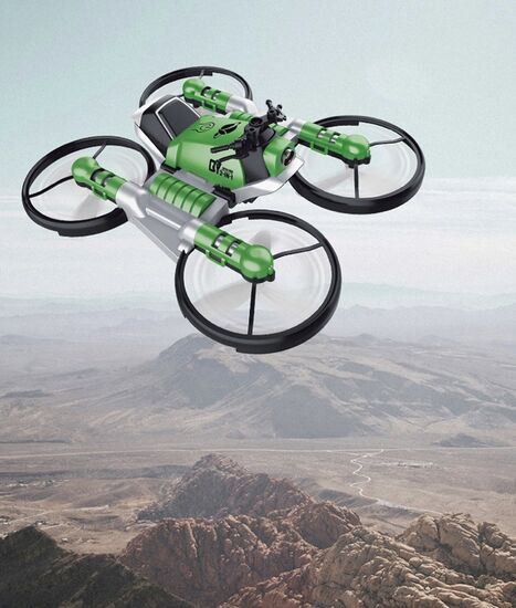 Квадрокоптер Мотодрон трансформер 2 в 1 с пультом управления