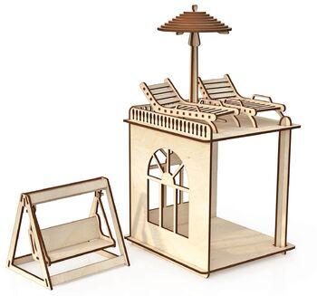 Конструктор ХэппиДом Пристройка с мебелью и качелями Premium