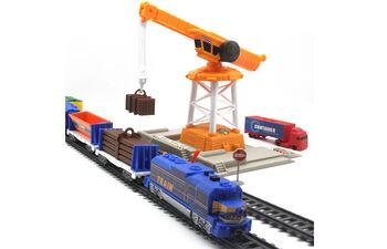 Железная дорога с подъемным краном, длина полотна 670 см - BSQ-2082