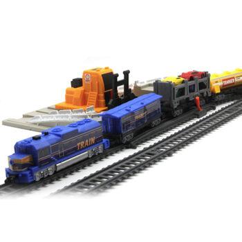 Железная дорога Локомотив со станцией загрузки автомобилей, длина 549 см - BSQ-2084