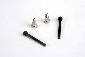 Shoulder screws, steering bellcranks (3x30mm hex cap) (2)/ draglink shoulder screws (chrome) (2)