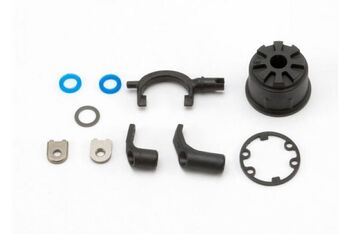 Carrier, differential (heavy duty)/ differential fork/ linkage arms (front , rear)/x-ring gasket