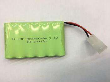 Аккумулятор Ni-Mh AA 7.2v 2400mah форма Flatpack разъем TAMIYA