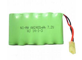 Аккумулятор Ni-Mh AA 7.2v 2400mah форма Flatpack разъем MINITAMIYA