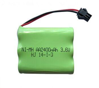 Аккумулятор Ni-Mh 3.6v 2400mah форма Flatpack разъем YP