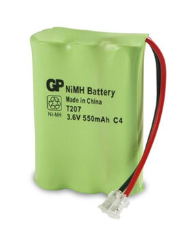 Аккумулятор NiMh 3.6V 550 mAh GP T-207 Flatpack UNI Plug