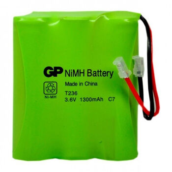Аккумулятор NiMh 3.6V 1300mAh GP T-236 Flatpack UNI Plug