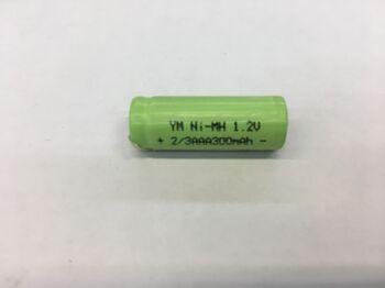 Аккумулятор Ni-Mh 2/3 AAA 1.2v 300mah  (1 шт)