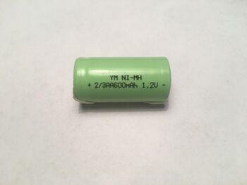 Аккумулятор Ni-Mh 2/3 AA 1.2V 600 mAh