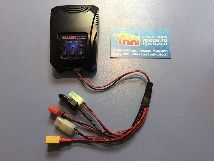 Зарядное устройство G.T.Power LiPo/NiMh (220B/2A/2-3s) T-plug/TRX/Tamiya/MiniTamiya/XT60