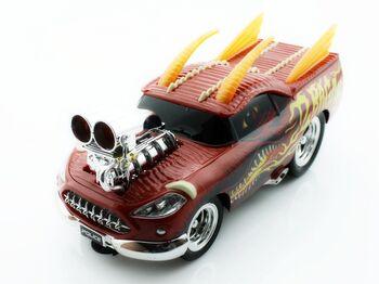 Радиоуправляемая машина Дракон 8128 из серии Muscle Car с гоночным Мотором 1/16 свет и звук