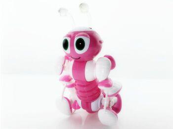 Радиоуправляемый робот-муравей трансформируемый, звук, свет, танцы (розовый)