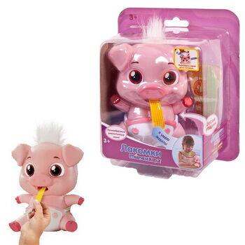 Игрушка интерактивная Лакомки-Munchkinz Свинка, пластмасса, 3+. Размер игрушки 10,7х8,9х12,6 см