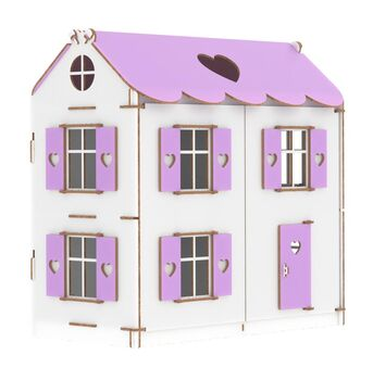 Конструктор Кукольный домик Playwood цветной (сиреневый)