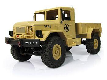 Радиоуправляемая машина WPL военный грузовик (песочный) 1/16+акб 2.4G RTR