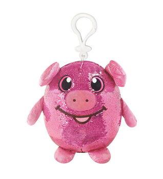 Shimmeez (Шиммиз), мягконабивная фигурка свинки в пайетках, с карабином, 9 см, 27 шт в дисплее, ЦЕНА ЗА ШТУКУ