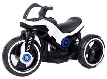 Электромотоцикл на аккумуляторе Y-MAXI Police White - SW198A-WHITE