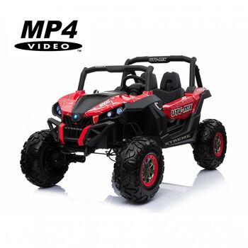 Двухместный полноприводный электромобиль Red Spider UTV-MX Buggy 12V MP4 - XMX603-RED-PAINT-MP4