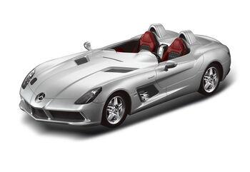 Радиоуправляемая машина Rastar 42400 Mercedes-Benz SLR 1:12, цвет серебряный 40MHZ