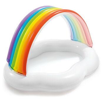 Бассейн надувной детский Rainbow Cloud Baby Pool (1-3 года), 142смx119смx84см