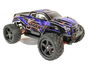 Радиоуправляемый монстр Remo Hobby SMAX UPGRADE 4WD 2.4G 1/16 RTR синий