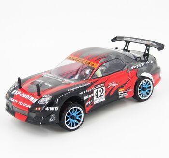 Радиоуправляемая машина HSP Flying Fish 2 4WD - 1:16 (черный с красным)