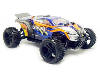 Радиоуправляемая машина HSP Ghost EP 4WD 1:18 (синий с оранжевым)