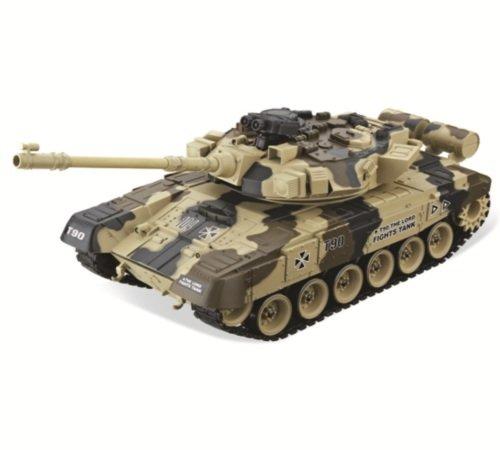 Радиоуправляемый танк HouseHold RUSSIA T-90 Vladimir 1:20 желтый хаки