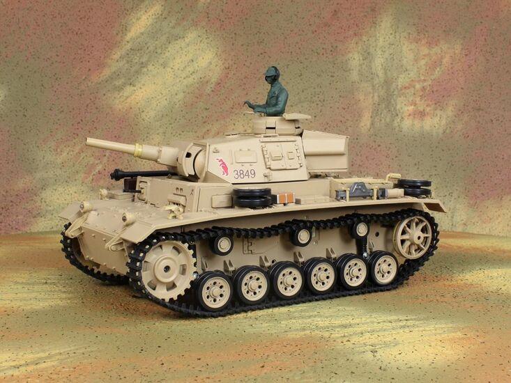 Радиоуправляемый танк Heng Long Tauch Panzer III Ausf.H Standard Version 1:16