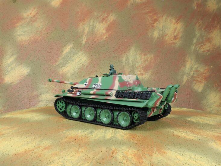 Радиоуправляемый танк Heng Long German Jangpanther Standard Version 1:16 с дымом и пульками